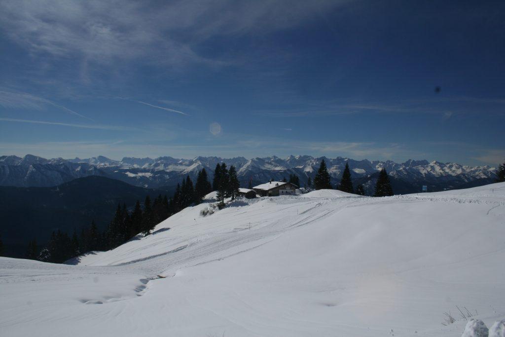 Tölzer Hütte unweit der Bergstation der Finstermünz-Sesselbahn am hinteren Brauneck. Foto: R. Krause