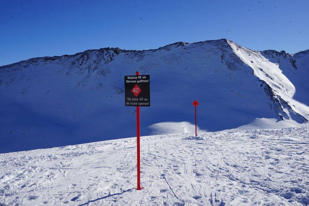 Ischgl: Piste Nr. 42 vom Piz Val Gronda (2812 m) ins Vesil. Foto: Rainer Krause