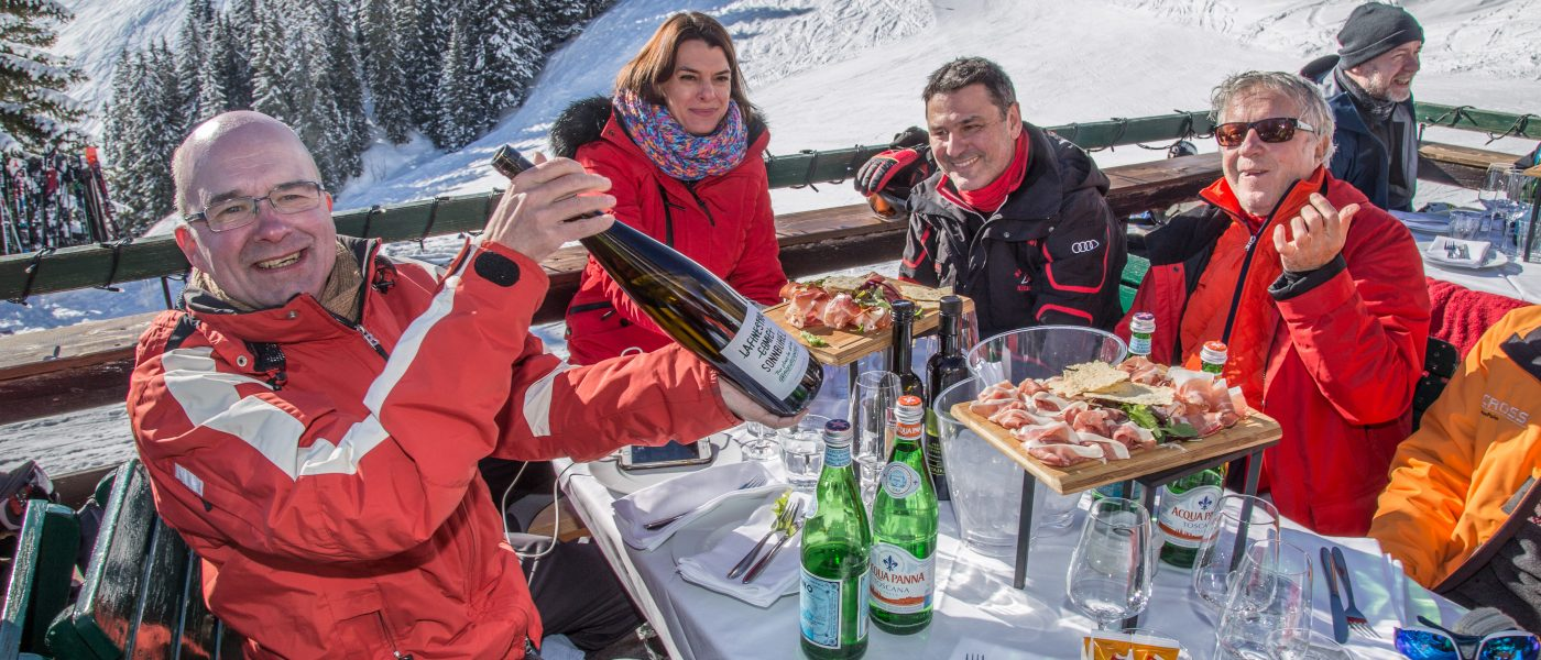 Bergrestaurant Sonnbühel, Kitzbühel, älteste Skihütte der Welt. Foto: Hans-Werner Rodrian
