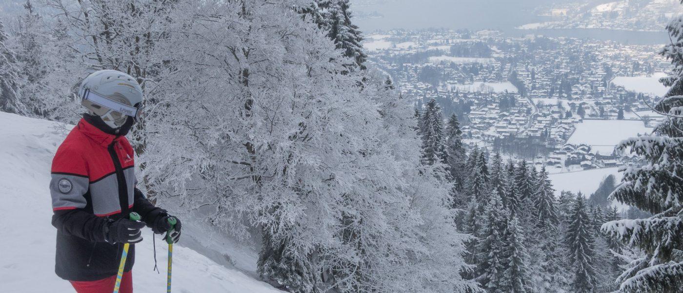 Der berüchtigte Glaslhang der Skiroute am Wallberg, Rottach-Egern. Foto: Hans-Werner Rodrian