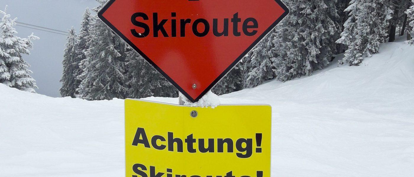 Skiroute am Wallberg, Rottach-Egern. Foto: Hans-Werner Rodrian