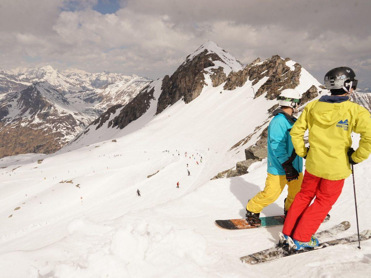 Sportgastein: Schneesicher sind die Pisten am Kreuzkogel (2686 m), traumhaft die Routen. Foto: Rainer Krause