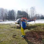 Zella am See/Salzburger Land: Heli-Transfer von Schloss Prielau ins Skigebiet. Foto: Rainer Krause