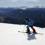Gitschberg-Jochtal oben am Gitsch mit Blick über Pustertal und in die Dolomiten. Foto: Heidi Siefert
