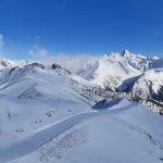 Osttirol, Großglockner Resort Kals Matrei, Abfahrt von Bergstation der Gondelbahn Kals auf Cimaross Richtung Kals