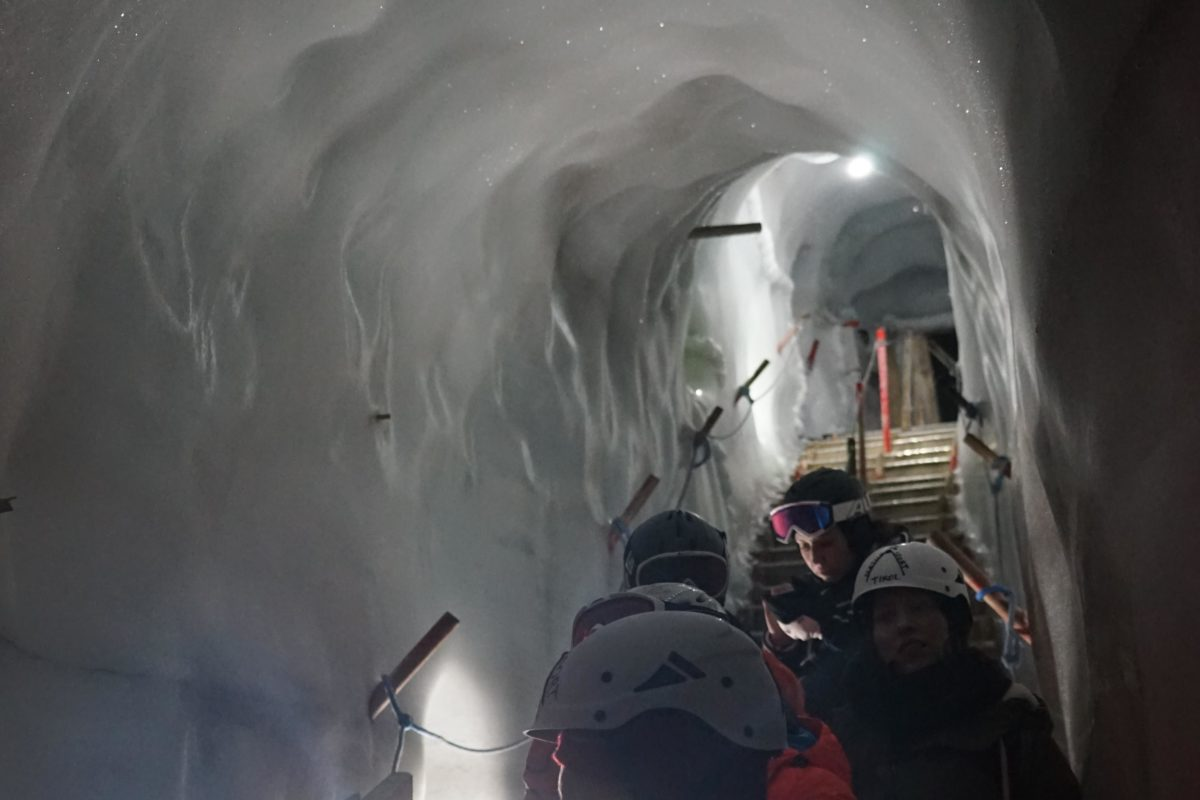 Hintertuxer Gletscher in Tirol, im Natureispalast, Einstieg. Foto: Rainer Krause